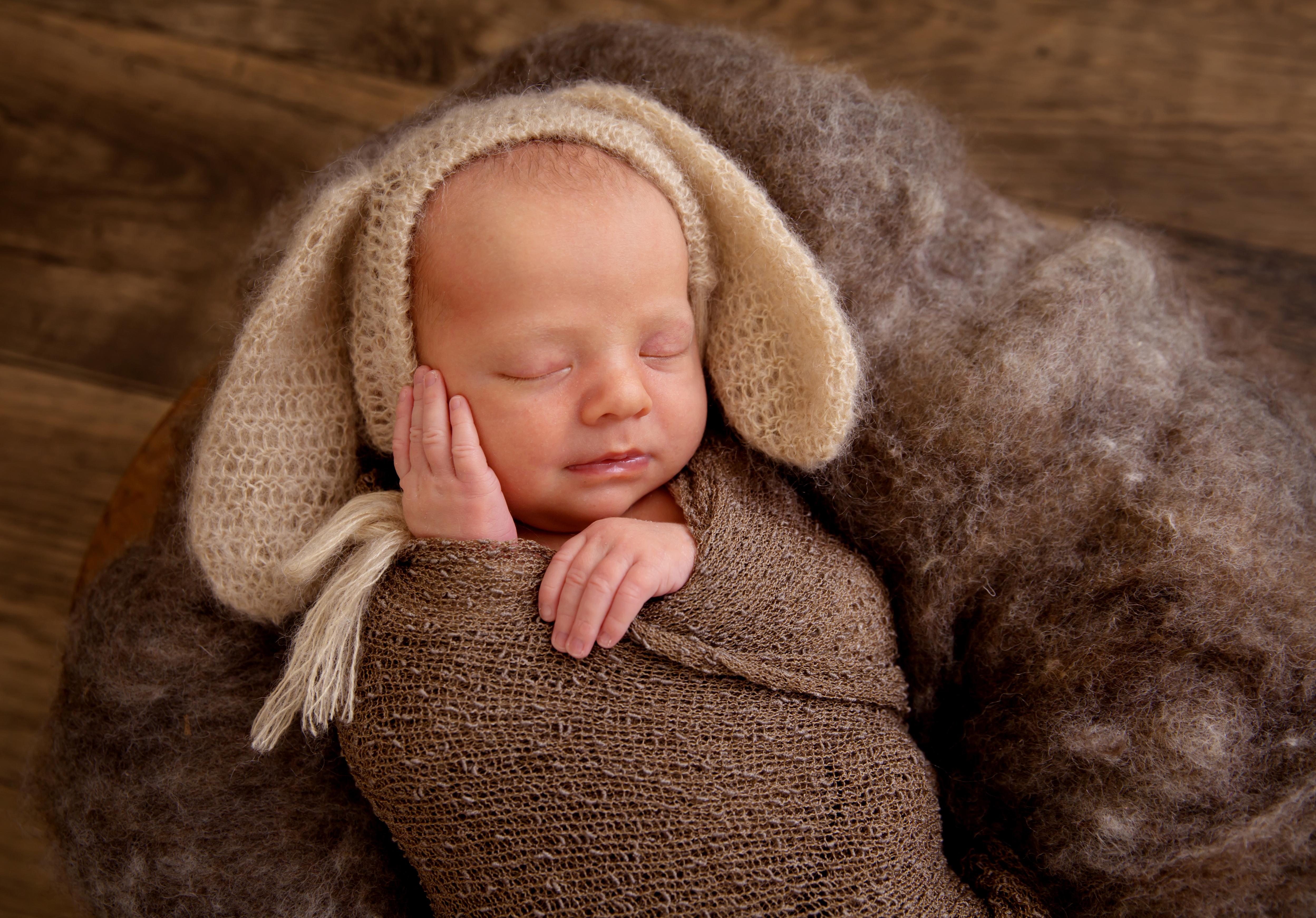 Cute newborn baby photography newborn photoshoot hull newborn photography bunny