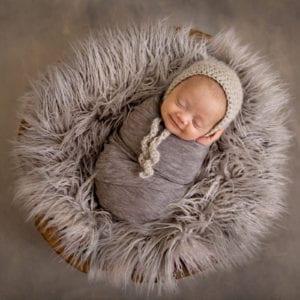 Smiling newborn baby photography beautiful newborn photography newborn photoshoot in basket