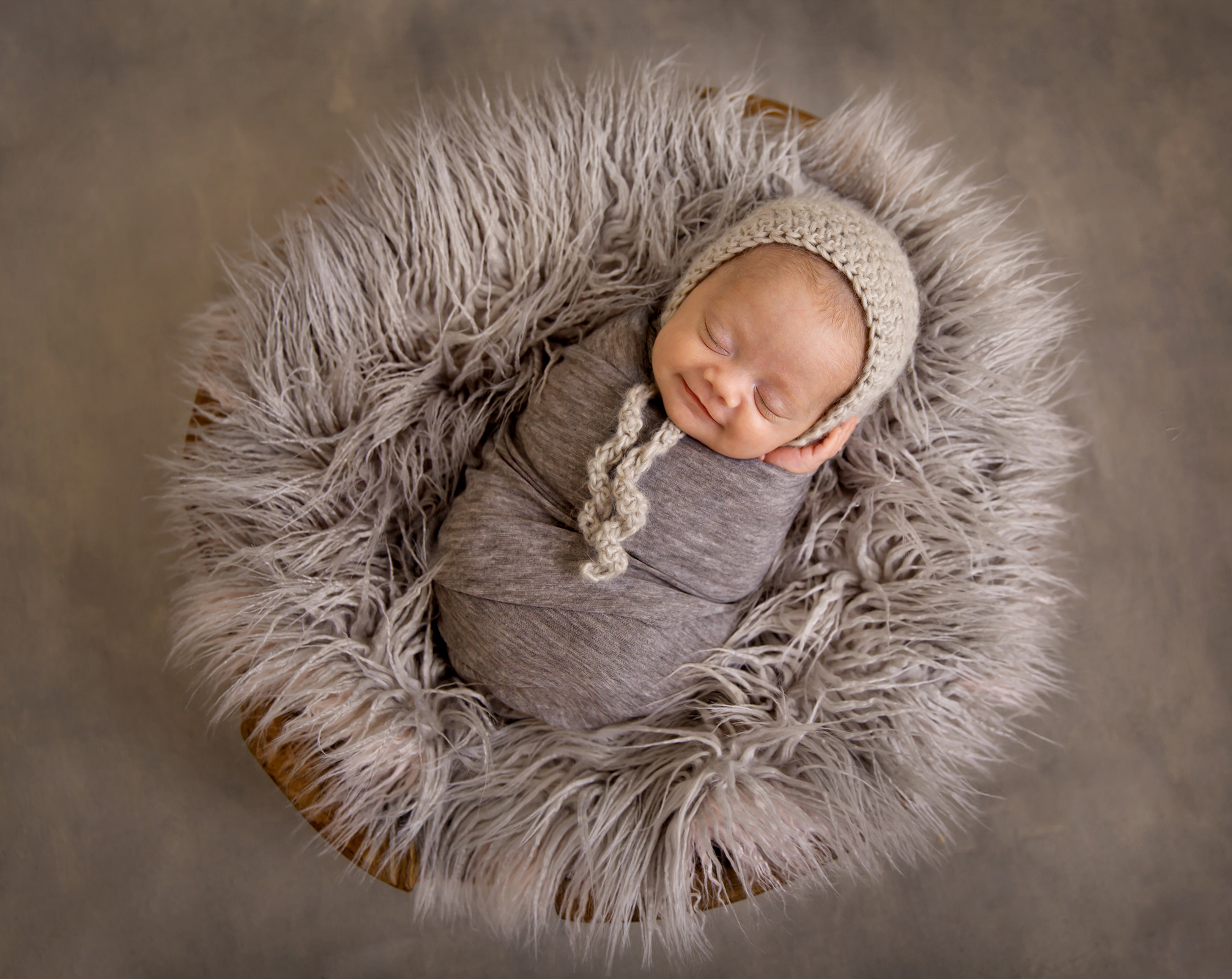 Smiling newborn baby photography beautiful newborn photography newborn photoshoot in basket