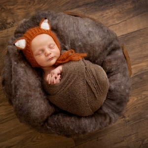 Fox newborn baby photography cute newborn photography newborn photoshoot in studio