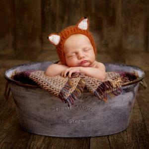 Newborn photography in studio fox newborn photoshoot beautiful newborn baby photography