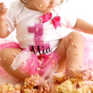 Birthday cake smash photoshoot