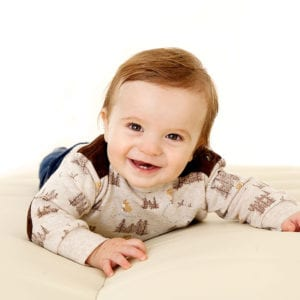 Photograph of smiling baby