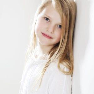 Studio portrait photography of young girl