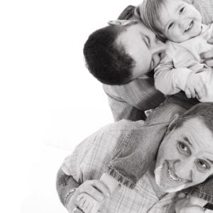Black and white photography from family portrait session