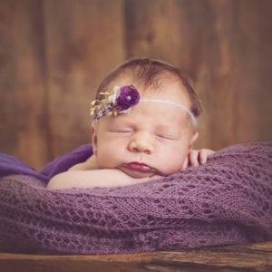 Close cropped photograph of newborn