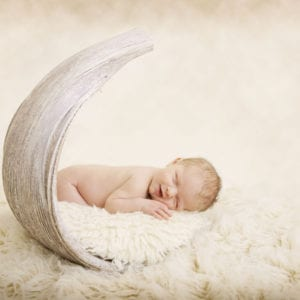 Photograph of sleeping newborn
