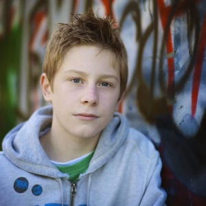 Teenage portrait photography