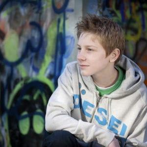 Teenager portrait photo shoot